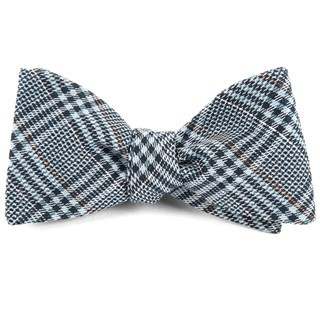 Columbus Plaid Light Blue Bow Tie