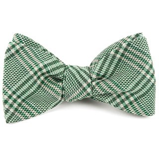 Columbus Plaid Moss Green Bow Tie