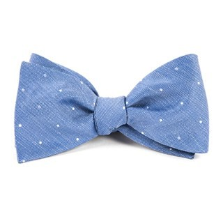 Bulletin Dot Light Cornflower Bow Tie