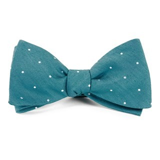 Bulletin Dot Teal Bow Tie