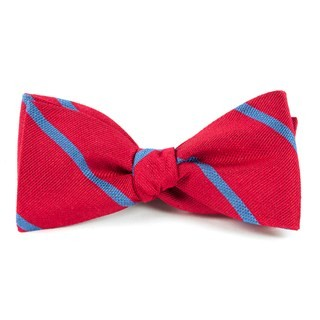 Spring Break Stripe Apple Red Bow Tie