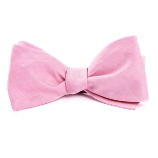 Linen Row Baby Pink Bow Tie