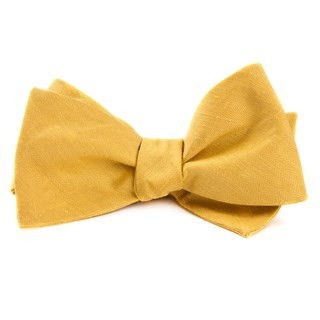 Linen Row Yellow Bow Tie