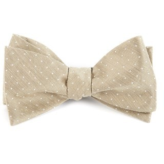 Destination Dots Champagne Bow Tie