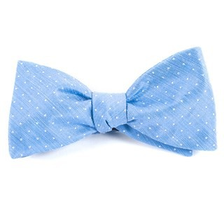 Destination Dots Light Blue Bow Tie