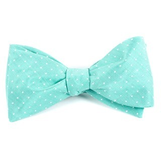 Destination Dots Mint Bow Tie