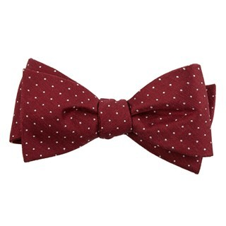 Rivington Dots Burgundy Bow Tie