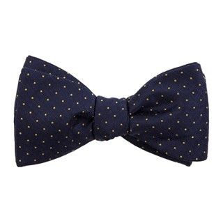 Rivington Dots Navy Bow Tie