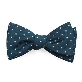 Dotted Dots Teal Bow Tie