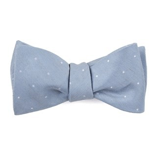 Bulletin Dot Slate Blue Bow Tie