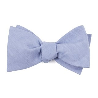 Linen Row Sky Blue Bow Tie