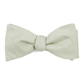 Linen Row Sage Green Bow Tie