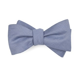 Linen Row Slate Blue Bow Tie