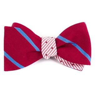 Spring Break Dots Red Bow Tie
