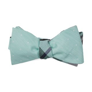 Bulletin Dot Plaid Spearmint Bow Tie
