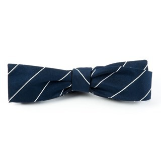 Pencil Pinstripe Classic Navy Bow Tie