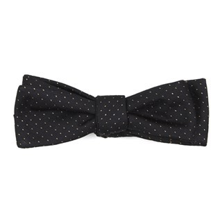 Flicker Classic Black Bow Tie