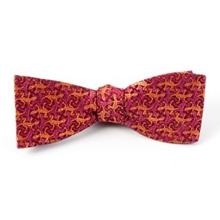 The Weird Al Burgundy Bow Tie