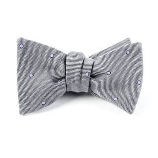 Wool Dots Charcoal Bow Tie