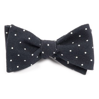Primary Dot Black Bow Tie