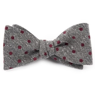 Revolve Dots Burgundy Bow Tie