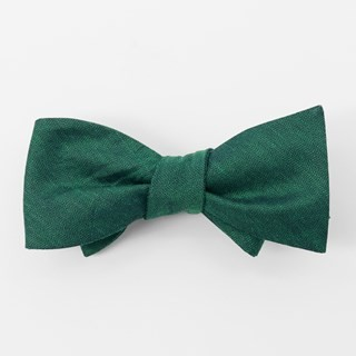 Bhldn Linen Row Hunter Green Bow Tie