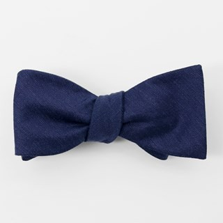 Bhldn Linen Row Navy Bow Tie