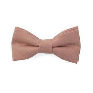 Bhldn Linen Row Rose Quartz Bow Tie