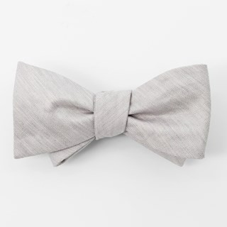 Bhldn Linen Row Grey Bow Tie