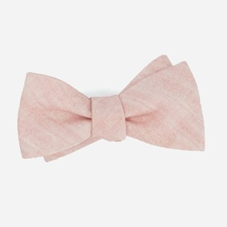 Freehand Solid Dusty Blush Bow Tie
