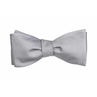 Grosgrain Solid Grey Bow Tie