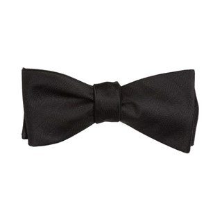 Herringbone Vow Black Bow Tie