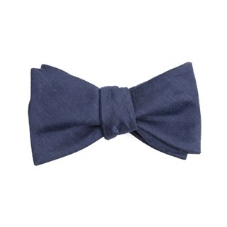 Linen Row Navy Bow Tie