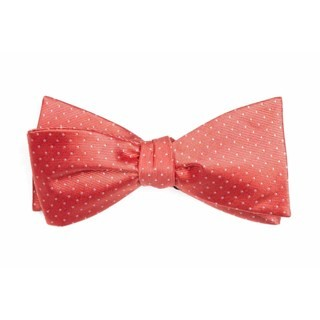 Mini Dots Coral Bow Tie