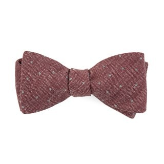 Redwood Dot Raspberry Bow Tie