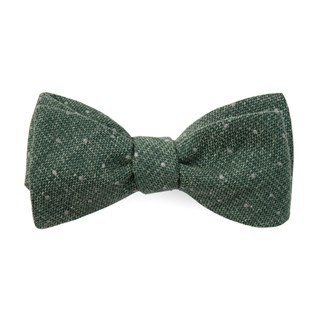 Redwood Dot Hunter Green Bow Tie