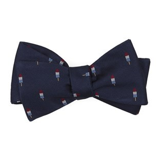 Summer Popsicles Navy Bow Tie