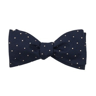 Mumu Weddings - Dotted Retreat Rich Navy Bow Tie