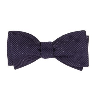 Five Star Solid Eggplant Bow Tie