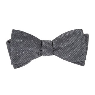 Five Star Solid Grey Bow Tie