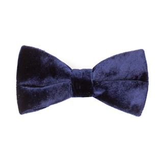 Formal Velvet Navy Bow Tie