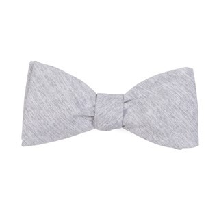 Sunset Solid Grey Bow Tie