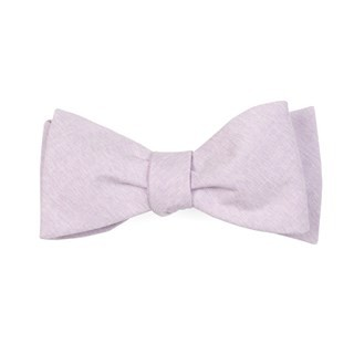 Sunset Solid Lavender Bow Tie