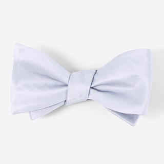 Mumu Weddings - Desert Solid Steel Blue Bow Tie