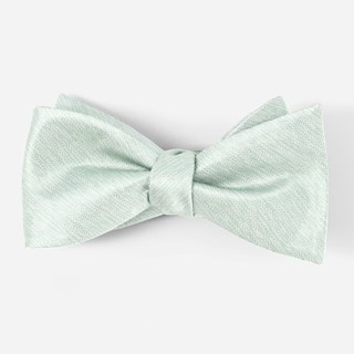 Mumu Weddings - Desert Solid Silver Sage Bow Tie