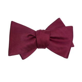 Mumu Weddings - Desert Solid Merlot Bow Tie