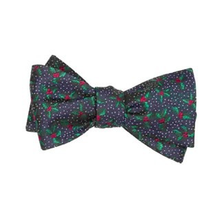 Under The Mistletoe Navy Bow Tie