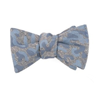 Speckled Camo Grey Bow Tie