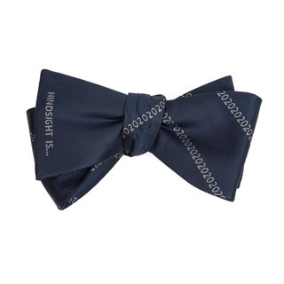 Hindsight Is 2020 Navy Bow Tie