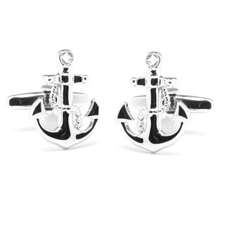 Anchor's Away Silver Cufflinks
